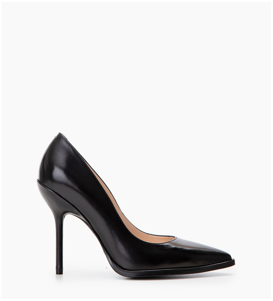 FREE LANCE Pump with pointed toe and stiletto heel JAMIE 10 - Smooth calf leather - Black