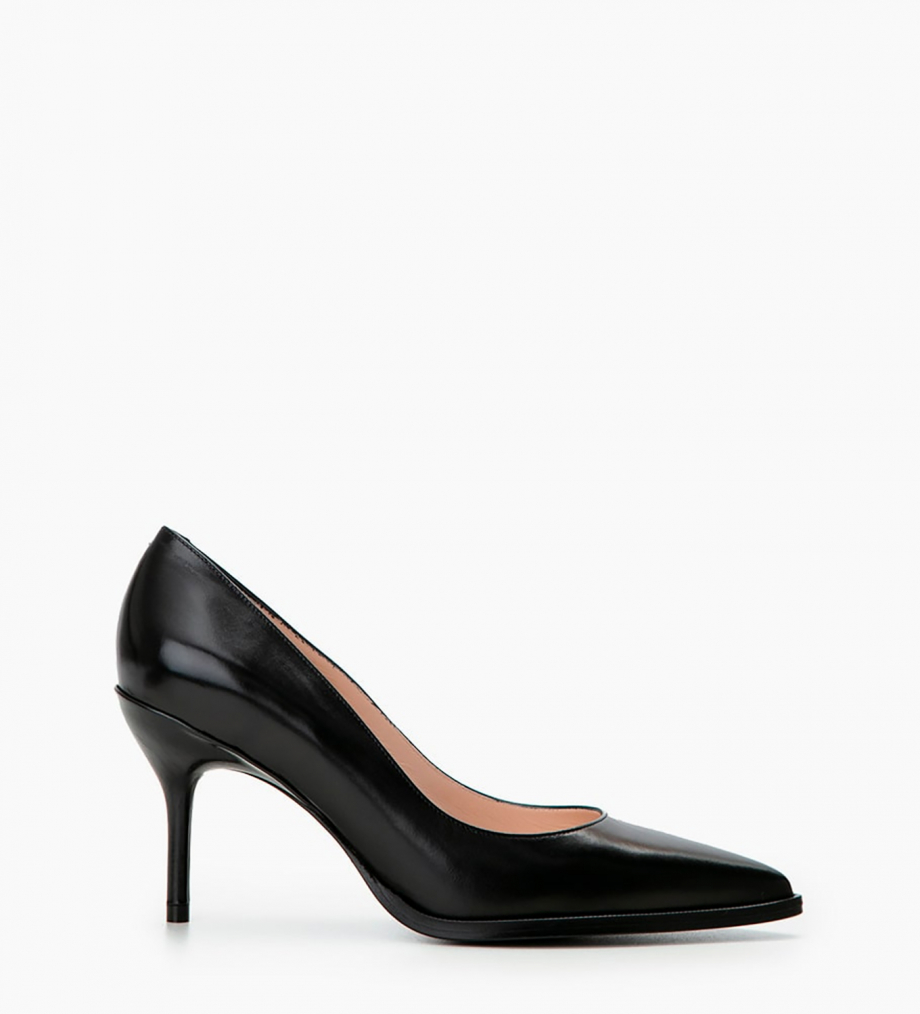 FREE LANCE Pump with pointed toe and stiletto heel JAMIE 7 - Genuine python leather - Black
