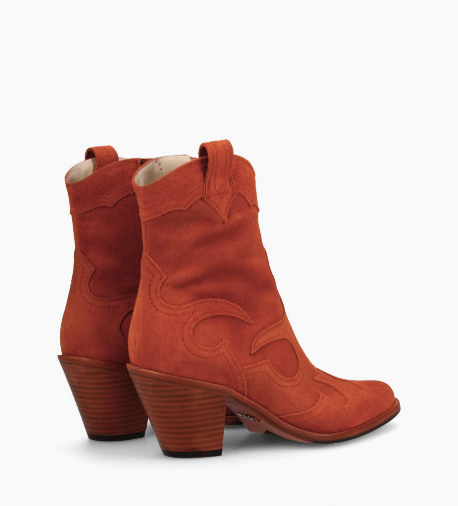 FREE LANCE Western ankle boot JANE 7 - Suede - Coral