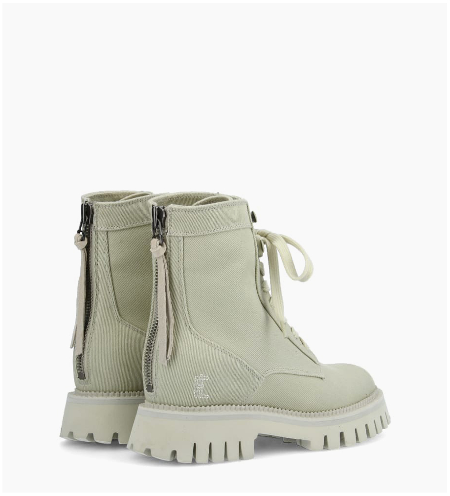 FREE LANCE Rangers lace up boot LUCY - Fabric - Linen