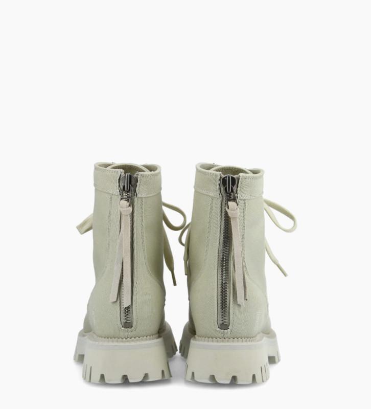 FREE LANCE Boot ranger à lacet LUCY - Toile - Lin