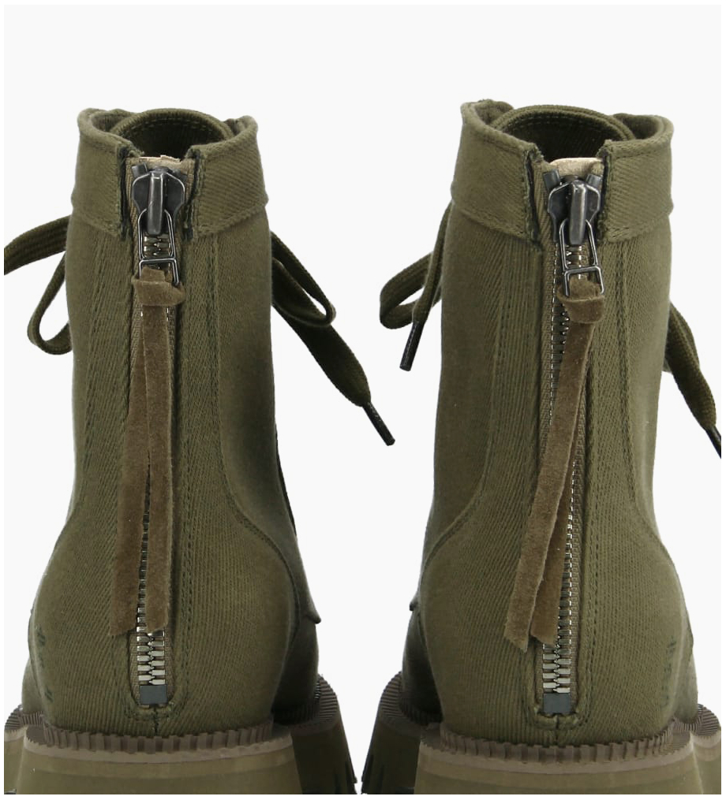 FREE LANCE Boot ranger à lacet LUCY - Toile - Vert