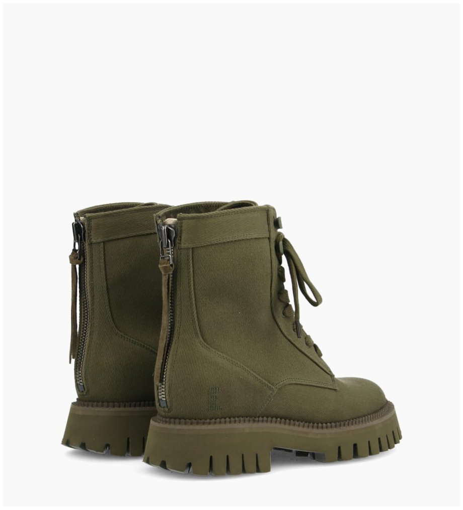 FREE LANCE Rangers lace up boot LUCY - Fabric - Khaki