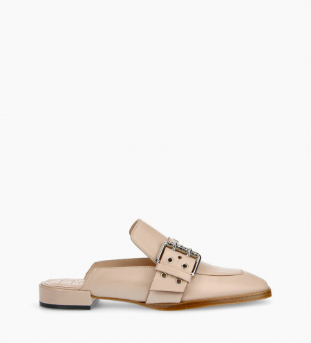 Buckle slipper JULY - Nappa Lambskin - Nude