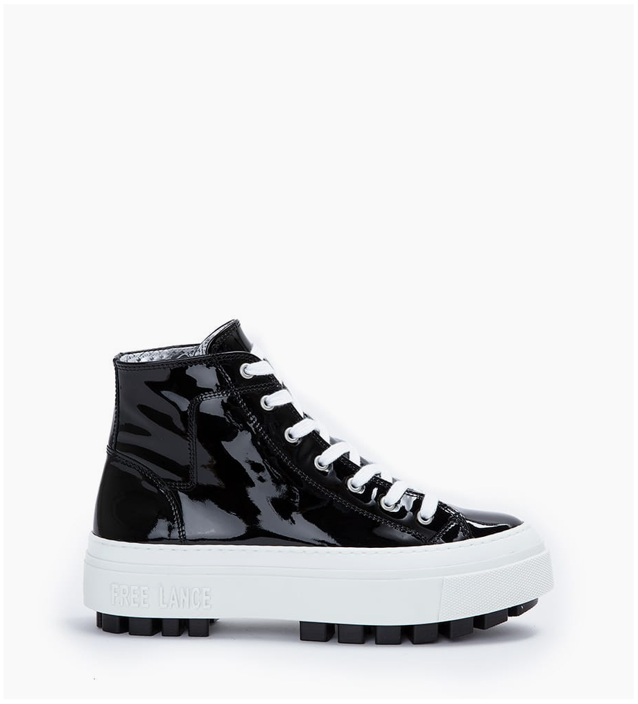 FREE LANCE High-top sneaker NAKANO - Patent leather - Black