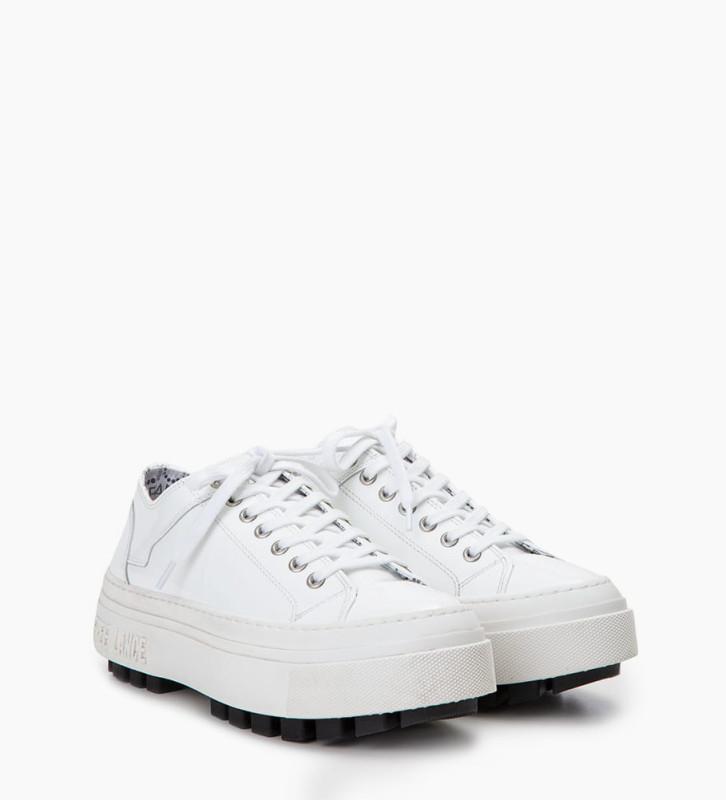 Eshop FREE LANCE Sneaker basse NAKANO - Cuir vernis - Blanc