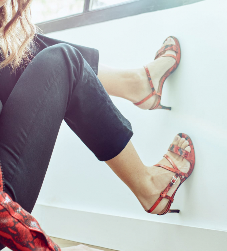 FREE LANCE Heeled sandal DITA 45 - Snake Print - Orange