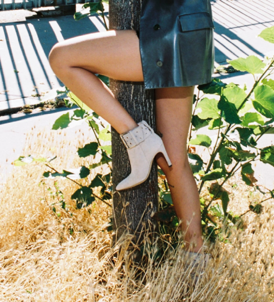 FREE LANCE Buckle heeled boot FOREL 7 - Suede - Linen