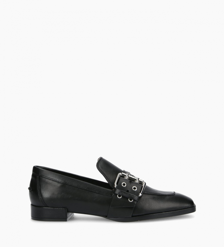Buckle loafer JULY - Nappa Lambskin - Black