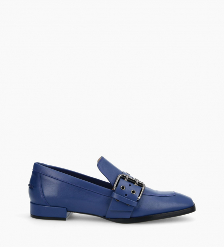 Buckle loafer JULY - Nappa Lambskin - Royal Blue