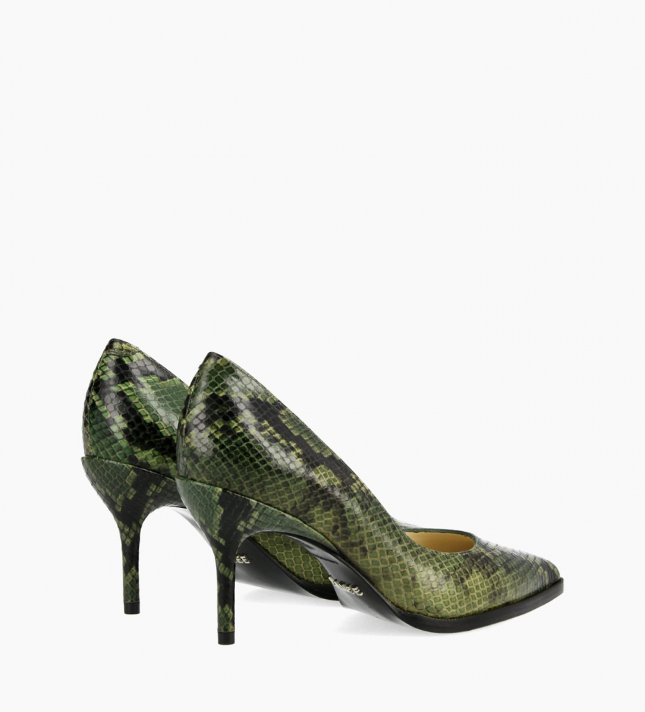 FREE LANCE Pump with pointed toe and stiletto heel JAMIE 7 - Snake Print - Khaki