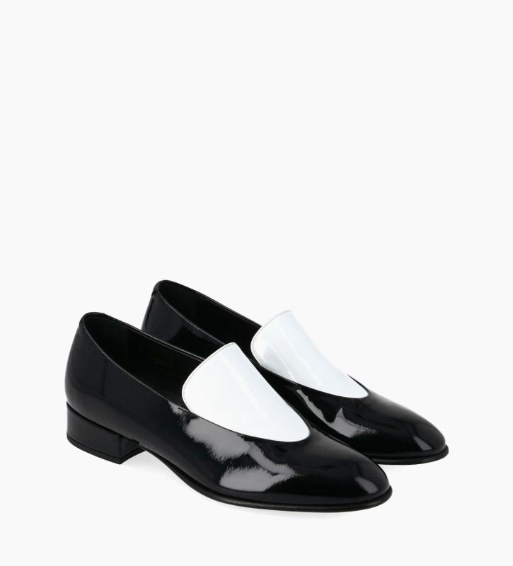 FREE LANCE Loafer - Ara 25 - Patent leather - White/Black
