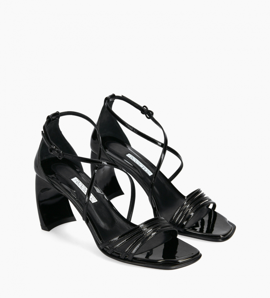 FREE LANCE Heeled cross-straps sandal - Cambre 70 - Patent leather - Black