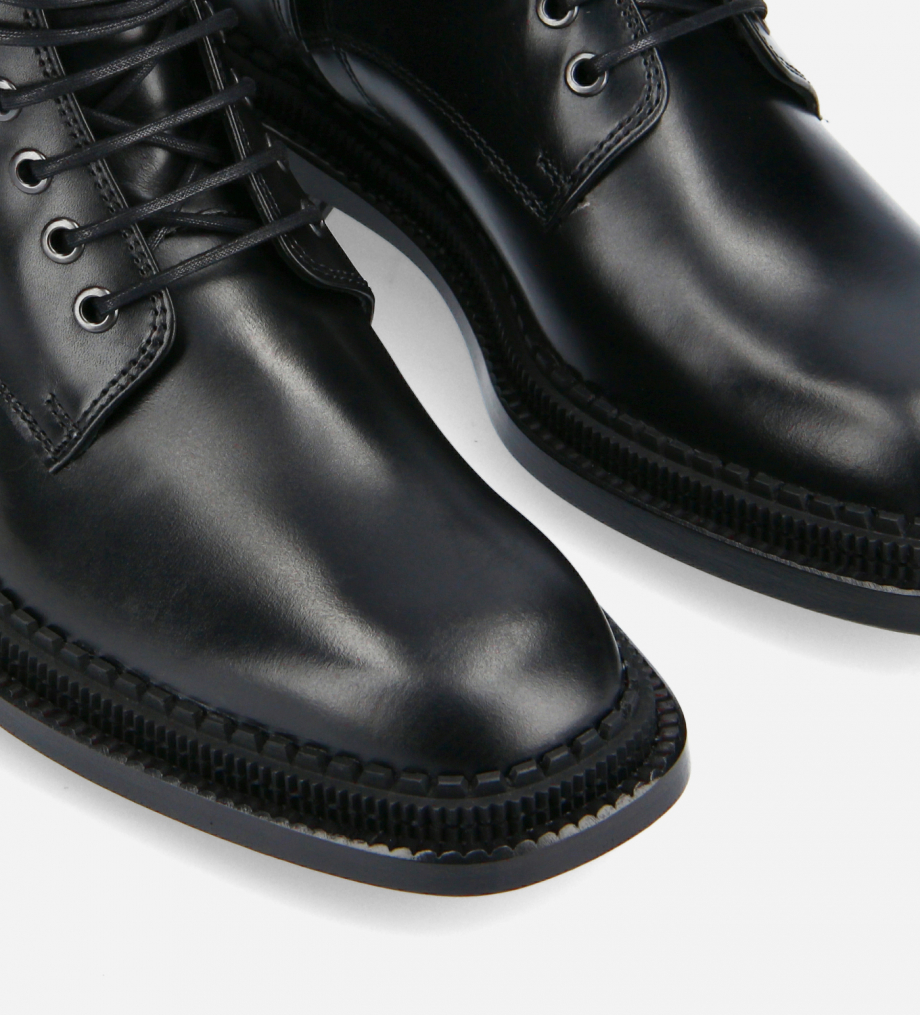 FREE LANCE Lace-up ankle boot - Chris 35 - Smooth calf leather- Black