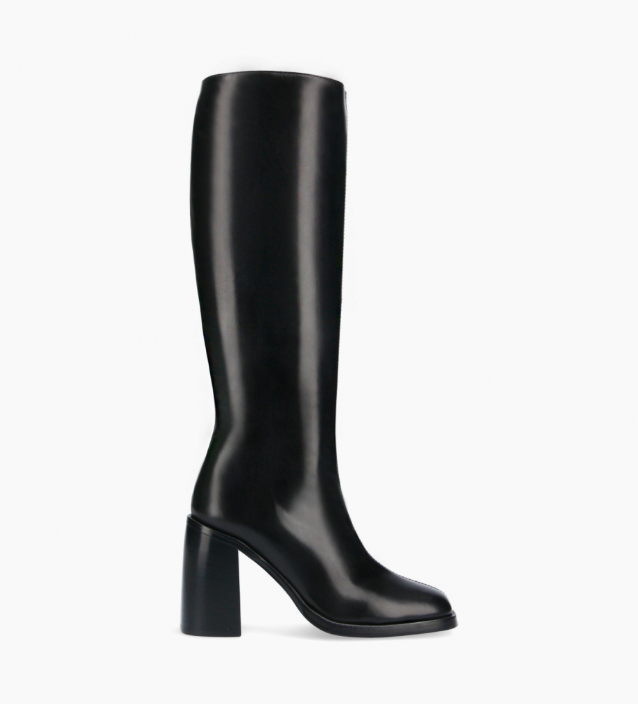 FREE LANCE Squared high boot - Clio 100 - Smooth calf leather- Black