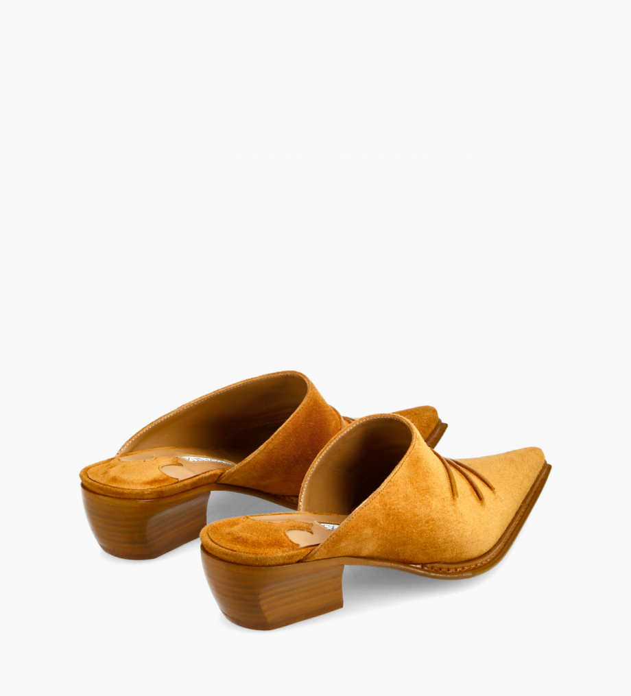 FREE LANCE Western mule - Deal 35 - Suede leather - Camel