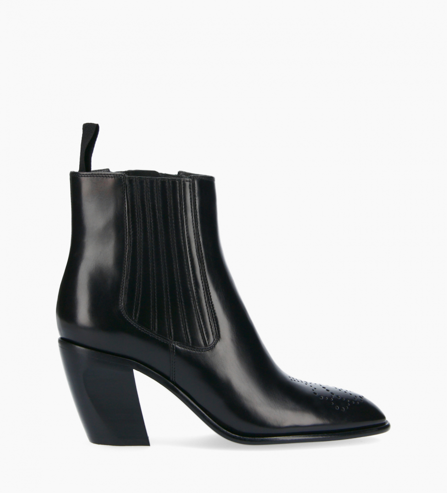FREE LANCE Chelsea Western ankle boot - Dusty 65 - Smooth calf leather- Black