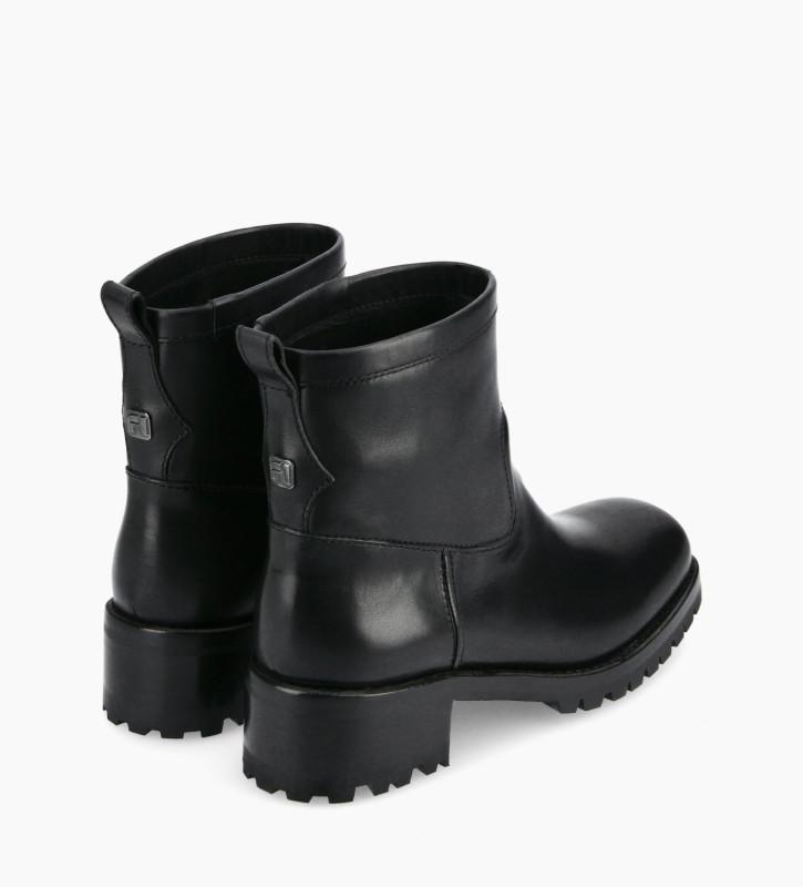 FREE LANCE Squared biker boot - Jac 45 - Matt smooth leather - Black