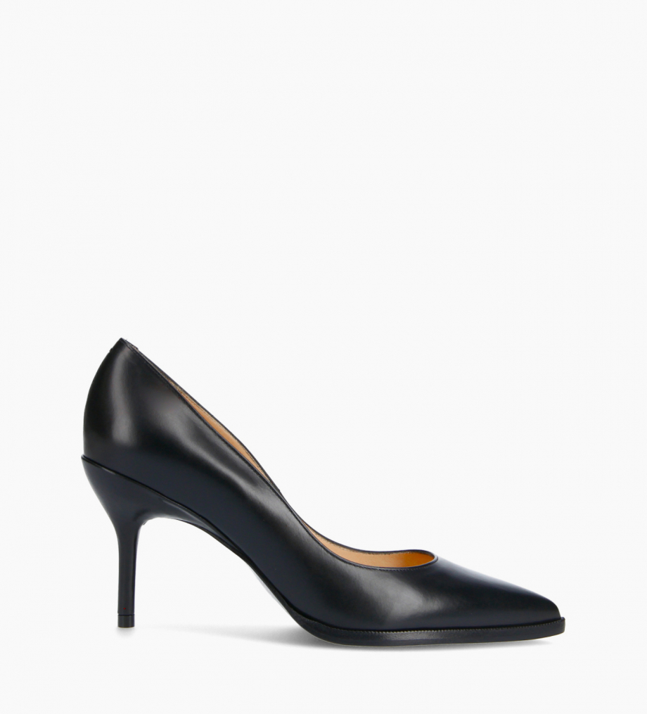 FREE LANCE Pump with pointed toe and stiletto heel - Jamie 7 - Smooth calf leather - Black