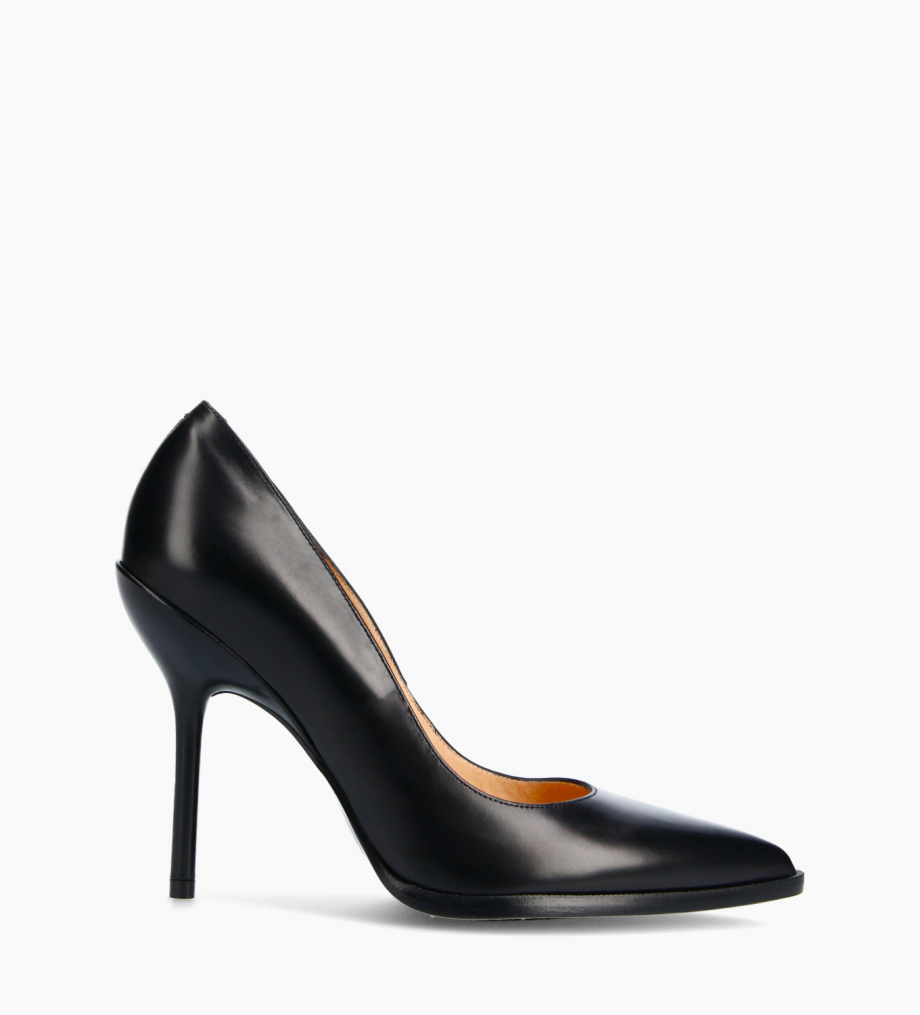FREE LANCE Pump with pointed toe and stiletto heel - Jamie 10 - Smooth calf leather - Black