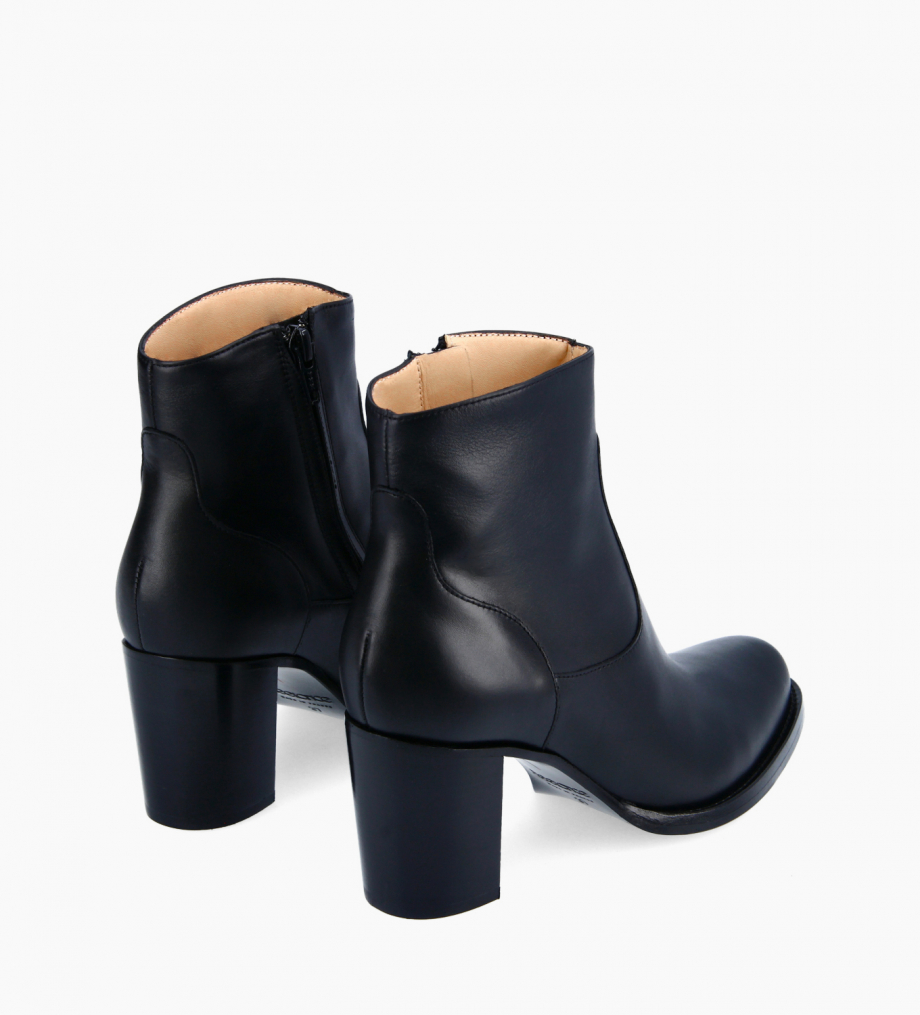 FREE LANCE Ankle boot with block heel and zip - Legend 7 - Smooth calf leather - Black