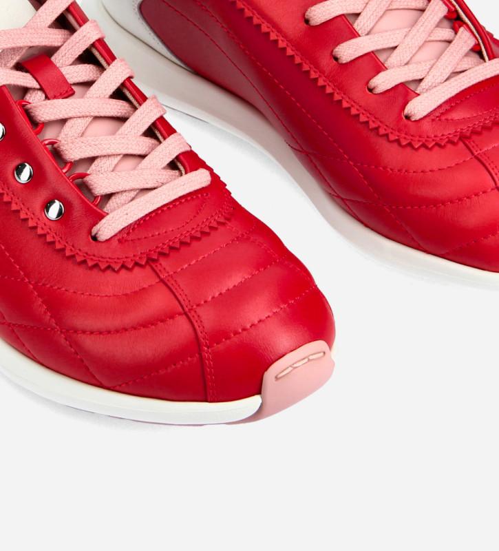 FREE LANCE Sneaker - Maiva - Nappa lambskin leather - Red/Pink/White