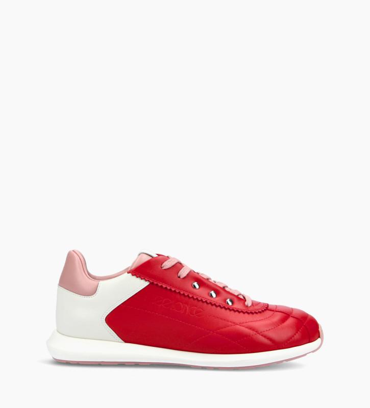 FREE LANCE Sneaker - Maiva - Cuir nappa - Rouge/Rose/Blanc