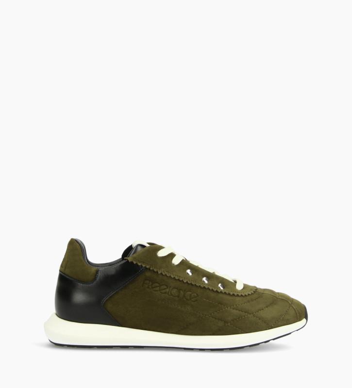 FREE LANCE Sneaker - Maiva - Suede leather/Nappa lambskin leather - Khaki/Black/White
