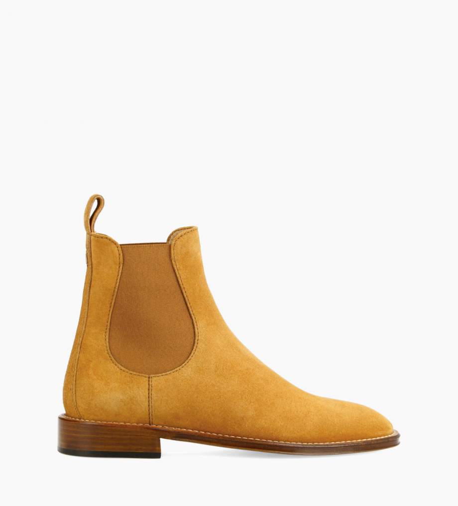 FREE LANCE Chelsea boot - Nova 25 - Suede leather - Camel