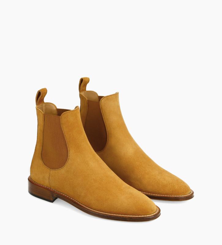 FREE LANCE Bottine chelsea - Nova 25 - Cuir velours - Camel