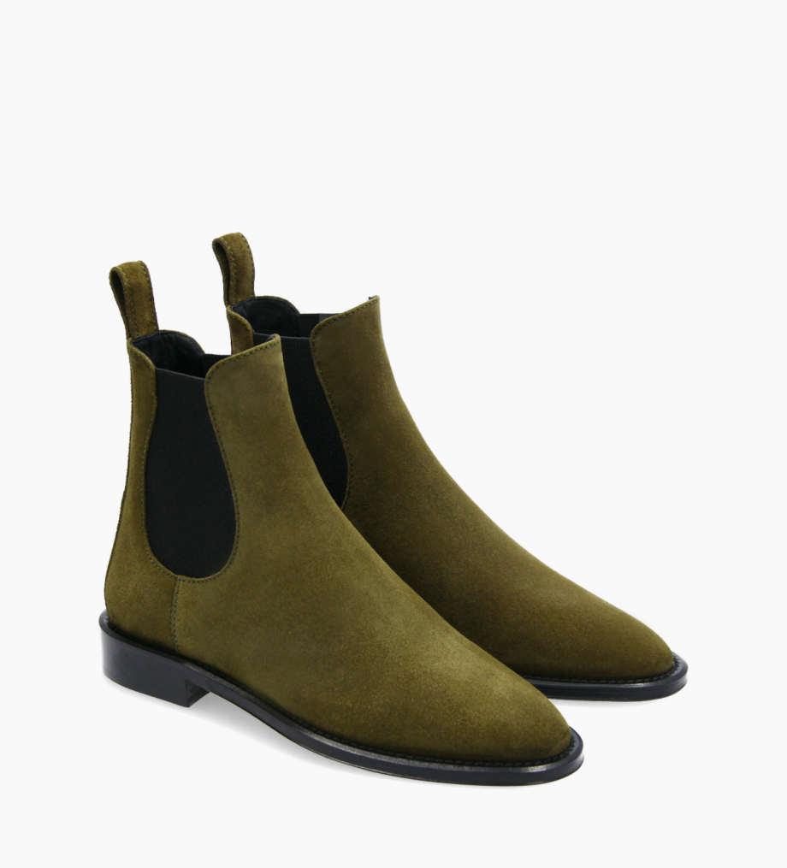 FREE LANCE Chelsea boot - Nova 25 - Suede leather - Khaki