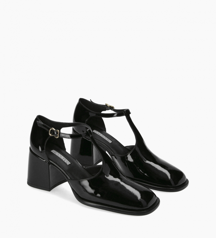 FREE LANCE T-bar heeled pump - Pallas 70 - Patent leather - Black