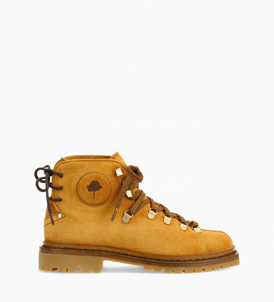 FREE LANCE Lace-up mountain boot - Rox - Suede leather/Nappa lambskin leather - Camel