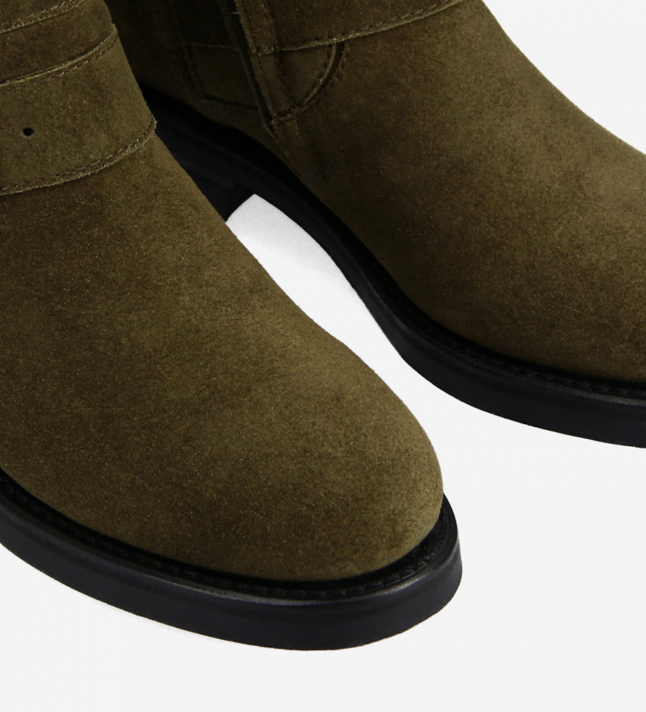 FREE LANCE Biker boot - Thorn 30 - Suede leather - Khaki