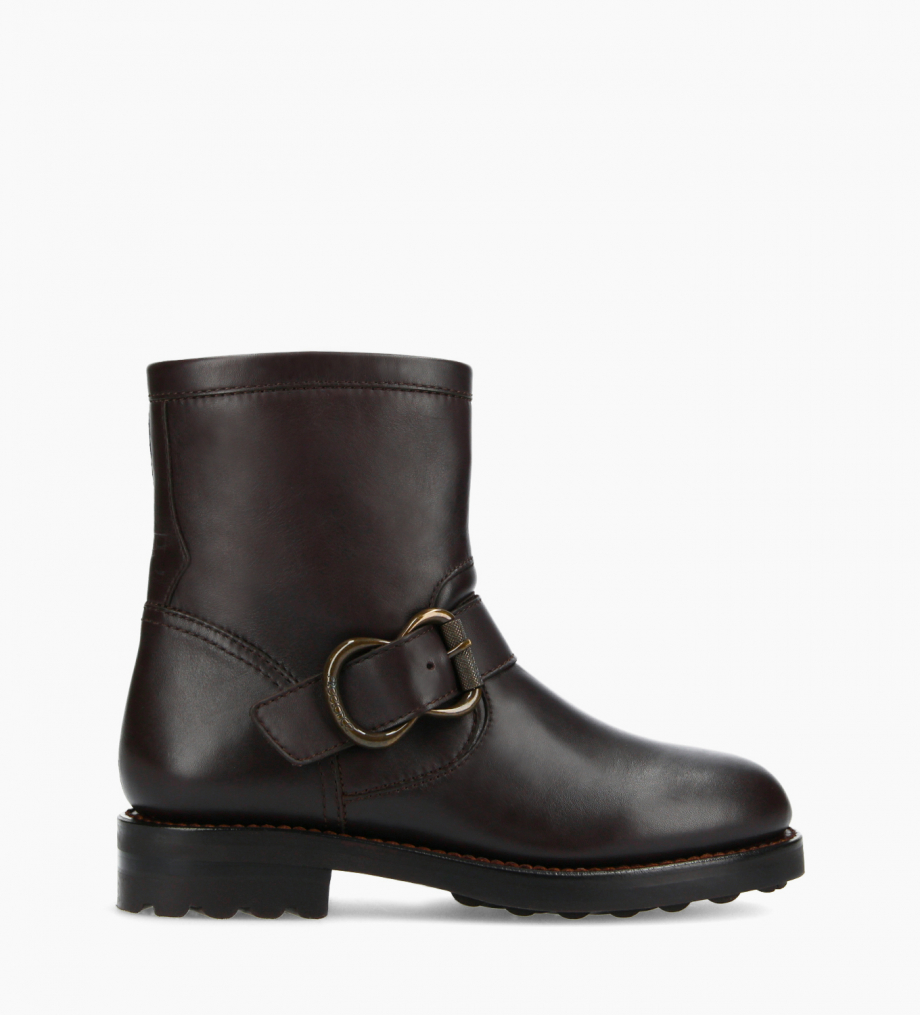 FREE LANCE Biker boot - Thorn 30 - Smooth leather - Brown