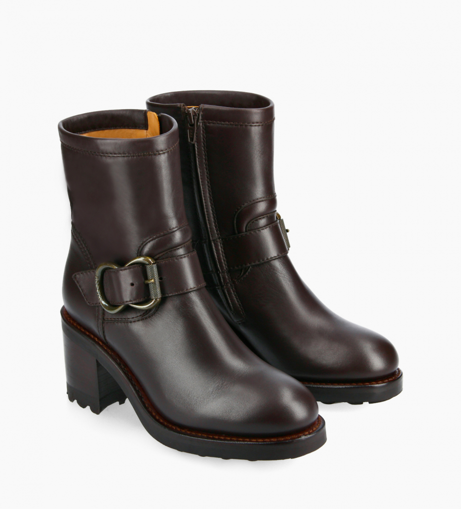 FREE LANCE Biker boot - Thorn 75 - Smooth leather - Brown