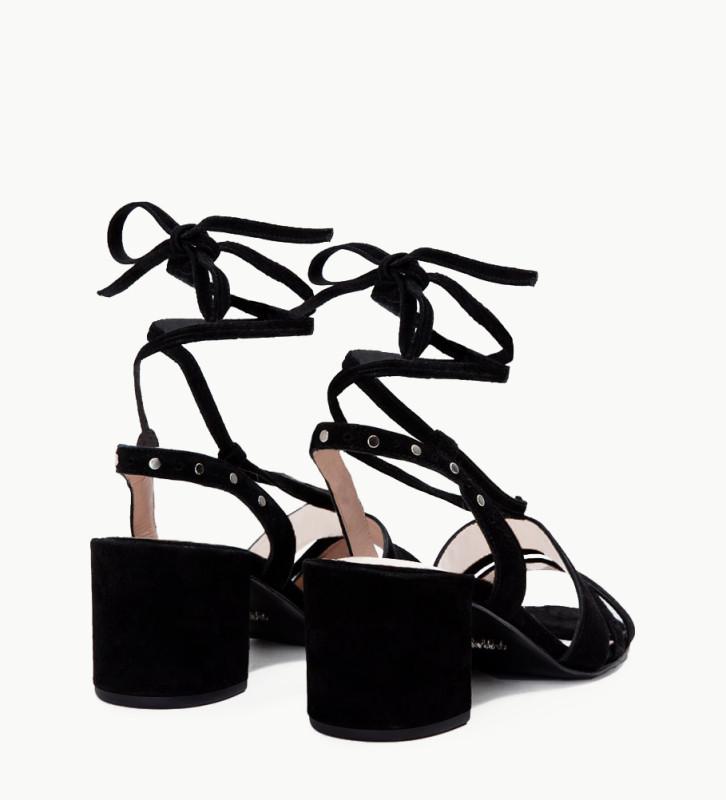FREE LANCE Sandal - Grace 5 - Suede goat leather - Black