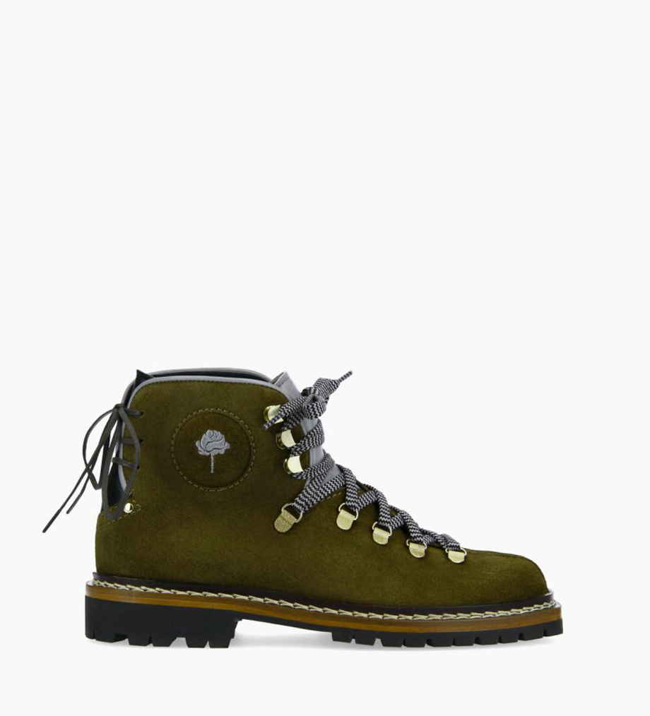 FREE LANCE Lace up mountain boot - Rox - Suede leather/Nappa - Khaki/Blue/Black