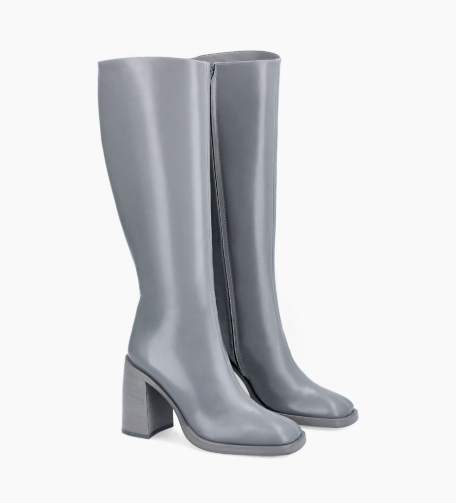 FREE LANCE Squared high boot - Clio 100 - Smooth calf leather- Sky blue
