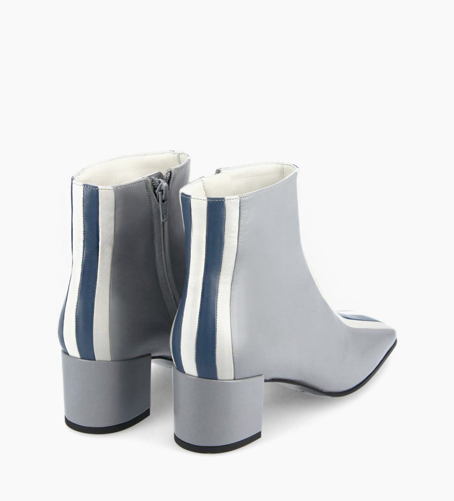 FREE LANCE Ankle boot - Edie 50 - Nappa lambskin leather - Pale blue/Gris