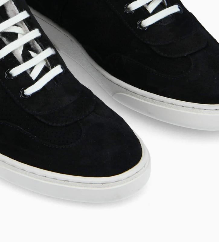 FREE LANCE Sneaker - Ren - Suede leather - Black