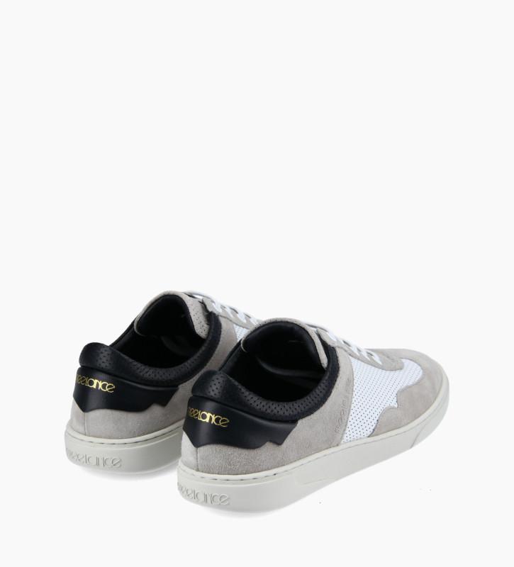 FREE LANCE Sneaker - Ren - Cuir velours/Cuir nappa - Gris/Blanc