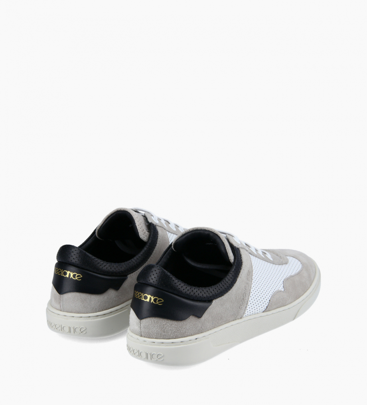 FREE LANCE Sneaker - Ren - Suede leather/Nappa lambskin leather - Gris/White