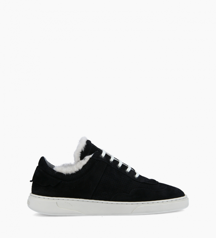 FREE LANCE Sneaker - Ren - Cuir velours - Noir