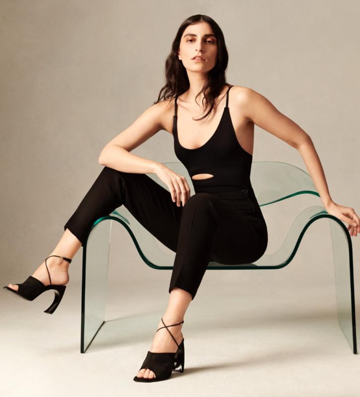 FREE LANCE Heeled mule sandal - Elle 100 - Cashmere leather/Nappa - Black