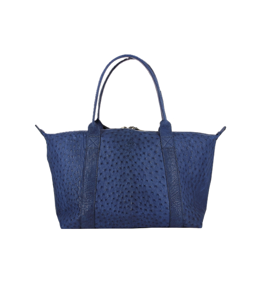 MINI GUY BAG - AUTRUCHE VERITA - NAVY