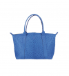 MINI GUY BAG - AUTRUCHE VERITA - BLEU DUR