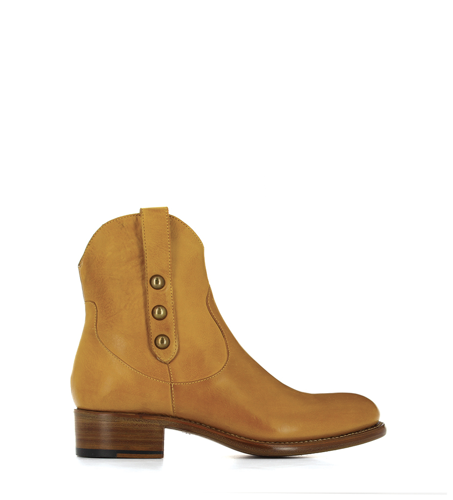 MANSORY 4 WEST ZIP BOOT NAIL - KENTUCKY CLOU METAL - AMBRE