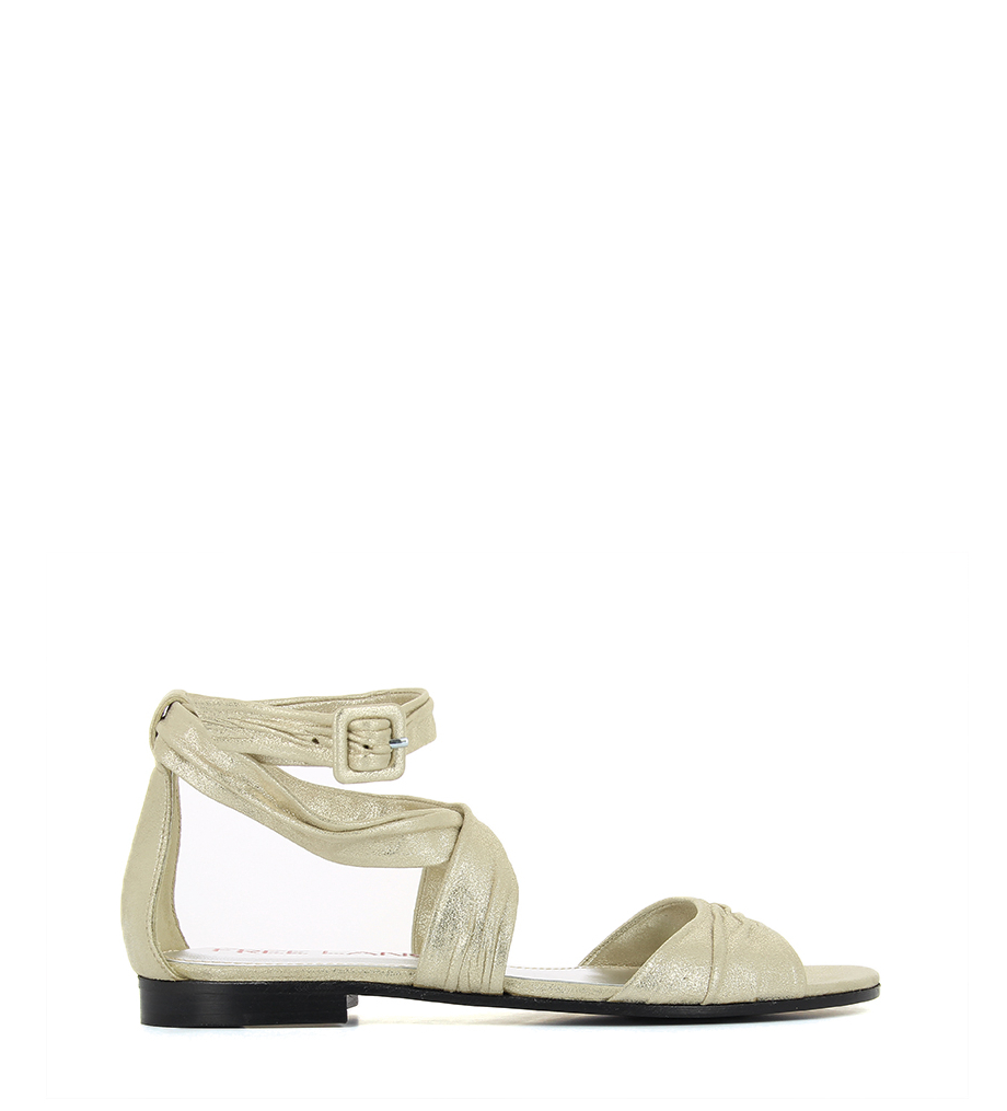 LORNA SANDAL DRAPING - ANTE METALICO - CHAMPAGNE
