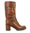 BIKER 7 MID STRAP - CROCO FIRST USD - MARRON